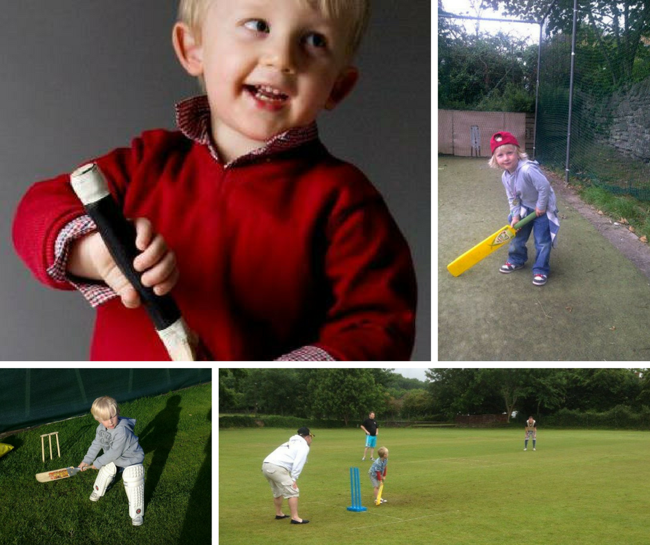 Steve's son, Will, playing cricket