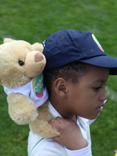 bailey bear - cricket tots mascot