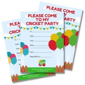 cricket tots party invitations