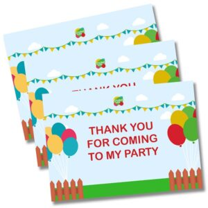 cricket tots parties thank you cards